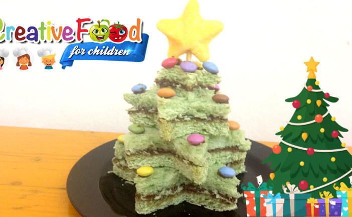 Tramezzalbero di Natale con nutella