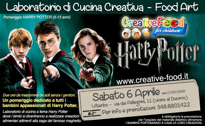 Harry Potter Food Lab. – laboratorio di cucina creativa per bambini