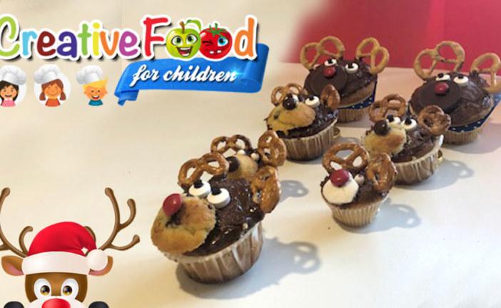 Renna Rudolf muffin e nutella