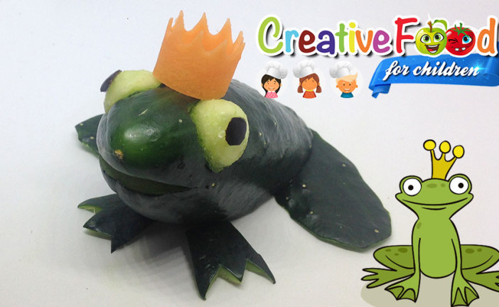 Principe Ranocchio – rana con cetriolo