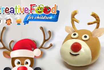 Renna di Natale sandwich Rudolph