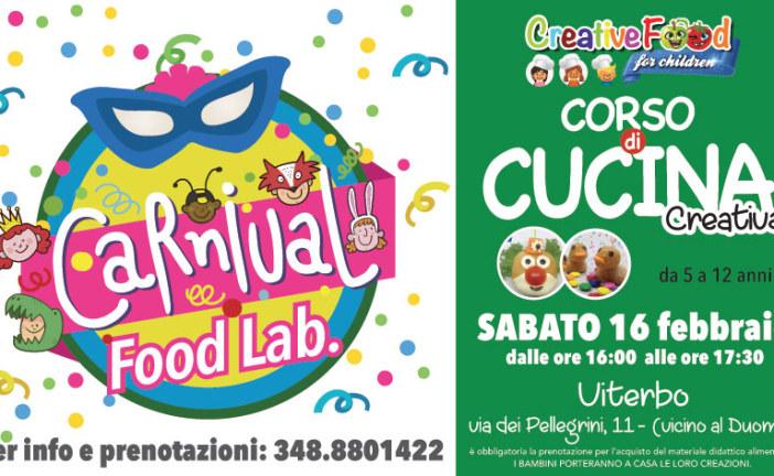 Carnival Food Lab – laboratorio di cucina per bambini