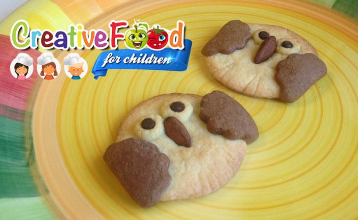 Gufo biscotto bicolore