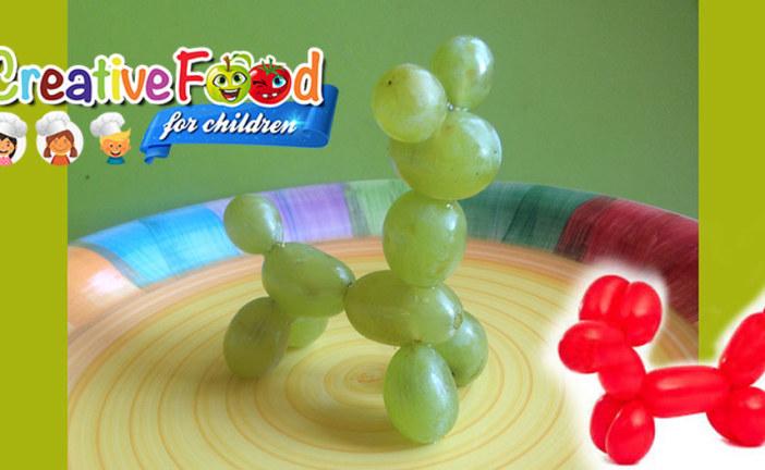 Scultura di palloncini con uva – cane