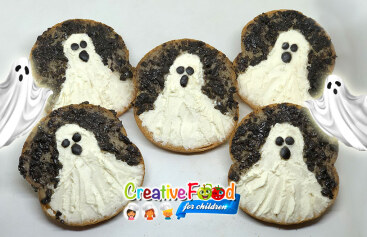 Fantasma tartina Halloween ghost
