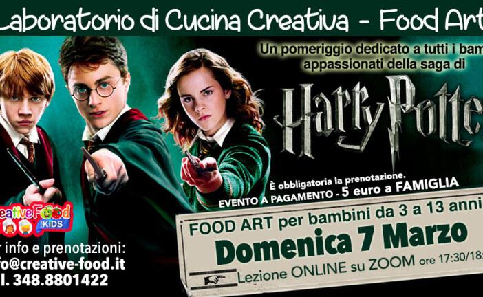 """HARRY POTTER – Laboratorio di CUCINA CREATIVA """"Food Art"""" per bambini – OnLine su Zoom"""