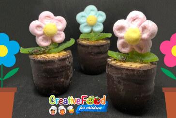 vaso di fiori con margherita di marshmallow e bulgari