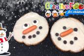 pupazzo di neve tartina dolce