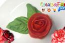 rosa rossa con pomodoro